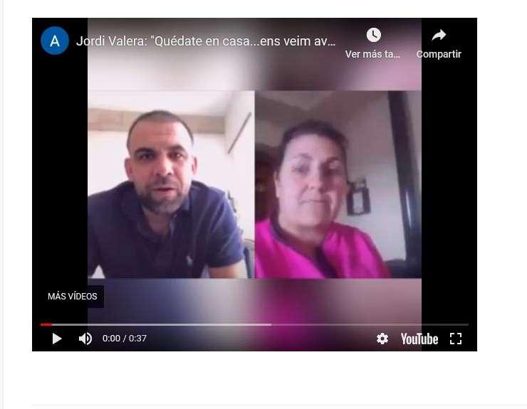 """Jordi Valera: """"Quédate en casa…ens veim aviat…"""""""